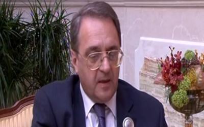 Le vice ministre russe des Affaires étrangères Mikhaïl Bogdanov (Capture d'écran YouTube)