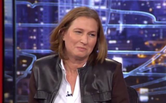 Tzipi Livni à l'émission 'Etat de la nation' - 13 décembre 2014 (Crédit : YouTube)