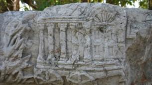 Sculptures en pierre ancienne Capharnaüm (crédit photo: Shmuel Bar-Am)