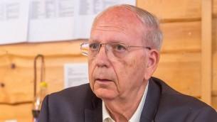 Efraim Halevy, ancien directeur du Mossad. (Crédit : Eli Itkin/CC BY-SA/Wikimedia Commons)