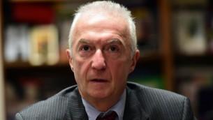 Gilles de Kerchove, coordinateur de l'UE pour la lutte contre le terrorisme, (Crédit : AFP PHOTO / EMMANUEL DUNAND)