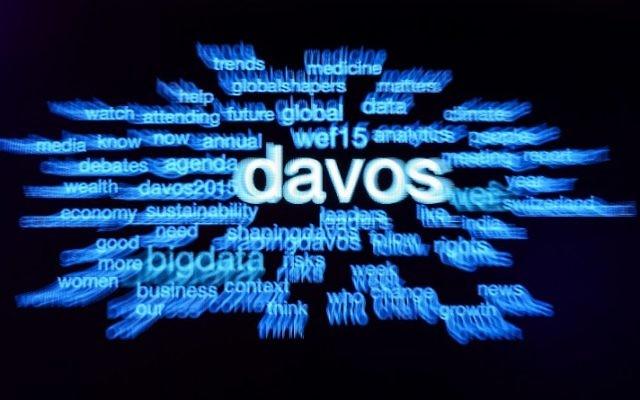 Logo du Forum économique mondial de Davos - édition 2015 (Crédit : AFP)