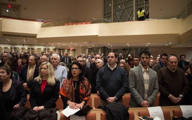 L'AJC a organisé  un rassemblement à la mémoire des victimes du terrorisme - 14 janvier 2015 (Crédit : NICHOLAS KAMM / AFP)