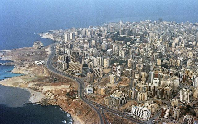 Beyrouth, capitale du Liban. (Crédit : Domaine public/Wikimedia Commons)
