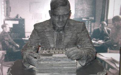 Illustration d'une statue représentant Alan Turing (Crédit : Ian Petticrew/Wikimedia communs/CC BY SA 2.0)