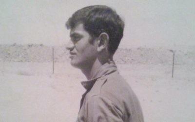 Arye David de Gedera essaie de retrouver les soldats israéliens qu'il avait aidé à sauver pendant en 1973 (Crédit : Autorisation d'Arye David)