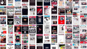 Capture d'écran Facebook pour les unes des journaux au lendemain de l'attentat terroriste au Charlie Hebdo