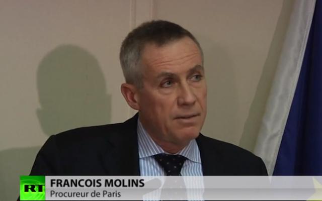 François Molins, procureur de Paris. (Crédit :capture d'écran YouTube)