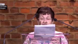 Capture d'écran ancienne prisonnière d'Auschwitz témoigne 70 ans après (Crédit : France 2)