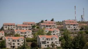 L'avant-poste d'Ulpana, adjacent à l'implantation de Beit El, en Cisjordanie. Illustration. (Crédit : Noam Moskowitz/Flash90)