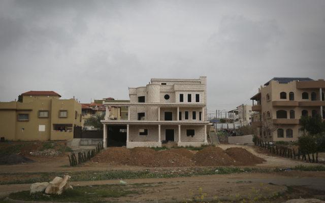 La ville bédouine de Rahat le 16 février 2014 (Crédit : Hadas parush/Flash 90)