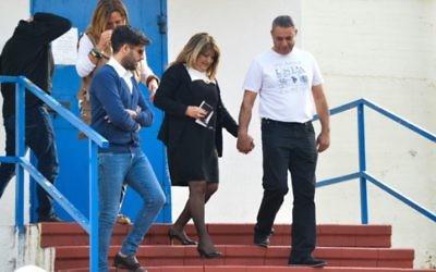 Shula Zaken, quittant la prison pour femme Neve Tirza le 26 janvier 2015 (Crédit : Flash90)