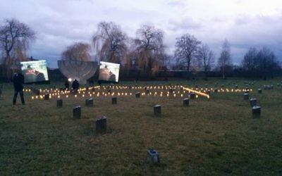 Le mémorial de l'Holocauste à Terezin, République tchèque le 27 Janvier 2015 (Crédit : Times of Israel / Marissa Newman)