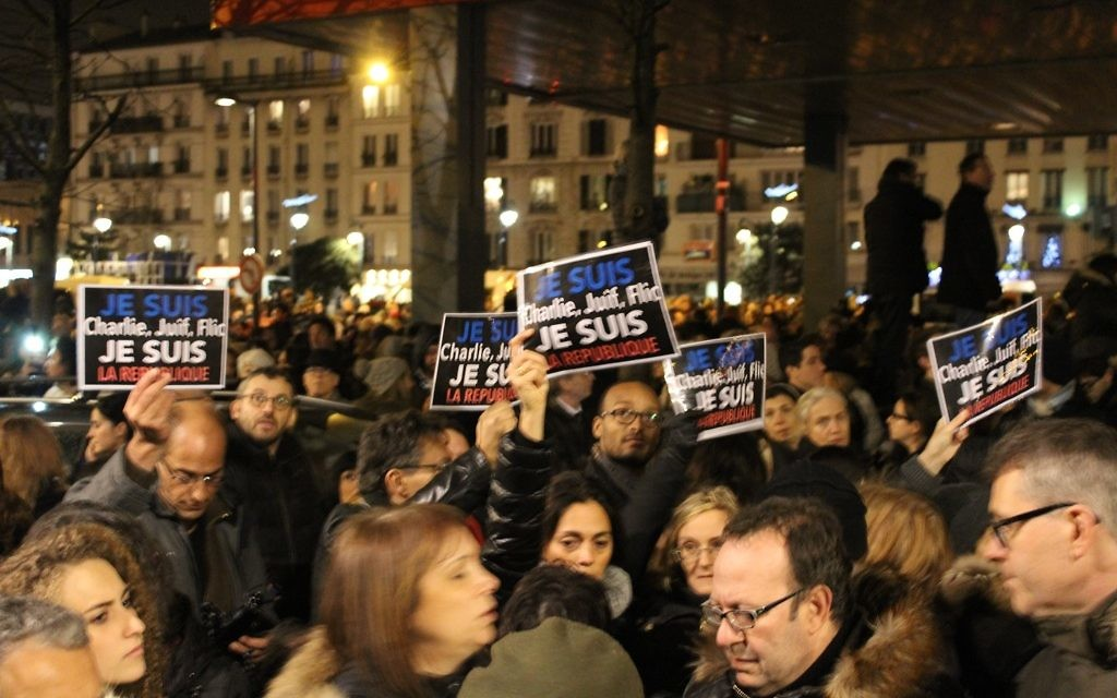 Rassemblement à St-Mandé et Vincennes pour les 4 victimes juives du terrorisme - 10 janvier 2015 (Crédit : Glenn Cloarec)