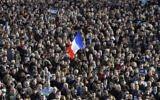 Rassemblement pour la Marche républicaine le 11 janvier 2015 sur la place de la République. (Crédit : JEAN-FRANCOIS MONIER/AFP)
