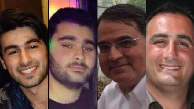 Les quatre victimes de l'Hyper Cacher, de gauche à droite : Yoav Hattab, Yohan Cohen, Francois-Michel Saada, Philippe Braham. (Crédit : autorisation)