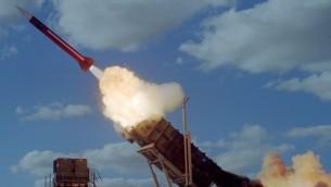 Un missile Patriot (Crédit : autorisation de l'armée de l'air israélienne)