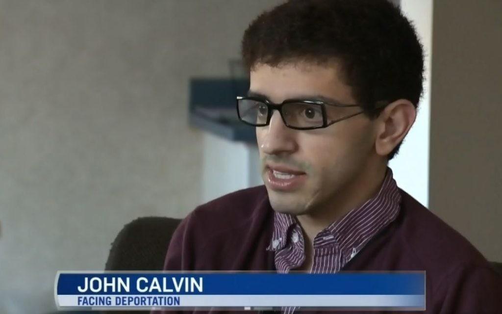 Jean Calvin, un gay converti au christianisme et demandeur d'asile palestinien, qui réside actuellement au Canada, dit qu'il craint pour sa vie après qu'il lui a été délivré un arrêté d'expulsion le 31 décembre, 2014. (Crédit : CTV Edmonton Nouvelles de capture d'écran)