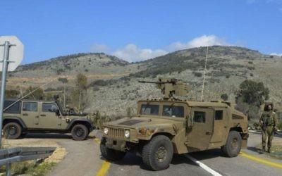 Le site où deux soldats israéliens ont été tués quand une patrouille israélienne a été ciblé par le Hezbollah dans la région du mont Dov le nord le long de la frontière israélienne avec le Liban le 28 janvier, 2015. (Crédit : Basal Awidat / Flash90)