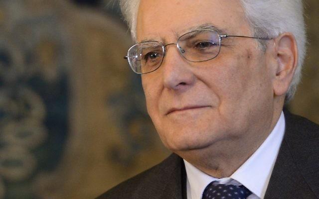 Sergio Mattarella, le président italien nouvellement élu (Crédit : FILIPPO MONTEFORTE / AFP)
