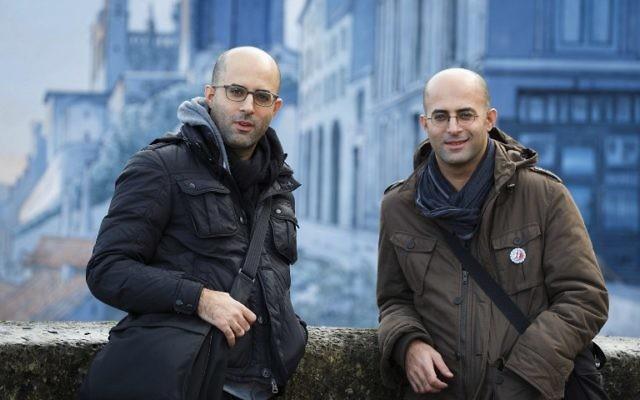 Les frères Hanuka de la bande dessinée au festival d'Angoulême (Crédit : AFP)