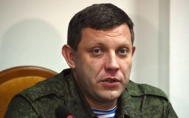 Le dirigeant séparatiste Alexandre Zakhartchenko lors d'une conférence de presse à Donetsk le 2 février 2015 (Crédit : DOMINIQUE FAGET / AFP)