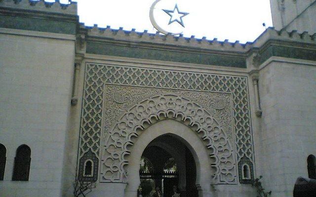 La Grande mosquée de Paris. Illustration. (Crédit : Wikimedia Commons)
