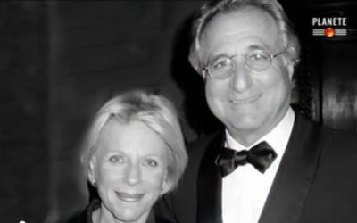 Bernard Madoff et son épouse (Crédit : Capture d'écran YouTube)