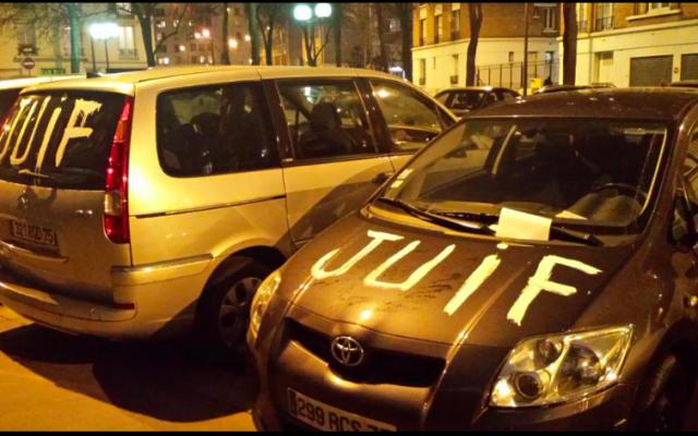 Paris un homme a tagu le mot juif sur une vingtaine - Location voiture porte de saint cloud ...