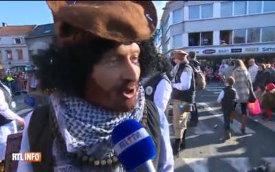 Capture d'écran du carnaval d'Alost (Crédit : rtl.info)
