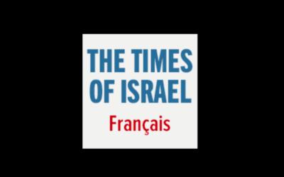 Capture d'écran du logo du Times of Israël en français (Crédit : autorisation)