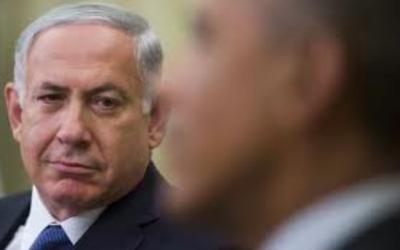 Le Premier ministre Benjamin Netanyahu et le président américain Barack Obama à Washington, en 2014. (Crédit : Flash90)