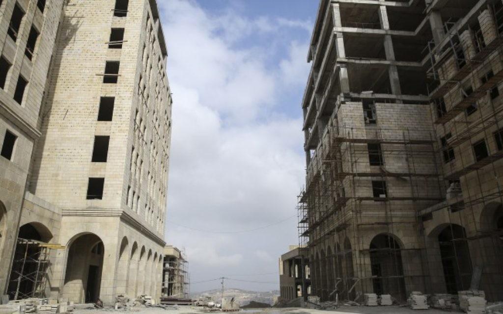 Une vue de la nouvelle ville palestinienne en construction le 23 février 2014