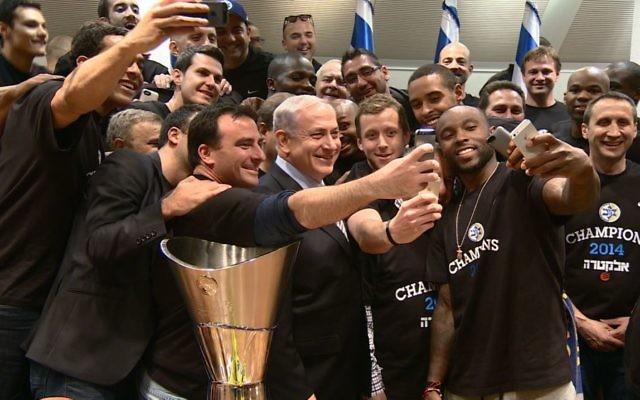 Victoire de la coupe d'Europe de Basket du Maccabi Tel-Aviv (Crédit: Haim Zach/GPO/Flash90)