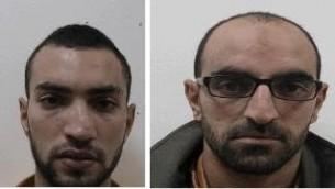 Mamon Salatan, 20 ans, et son cousin Salam Abbas Salatan, arrêtés en janvier 2015. Ils sont suspectés d'avoir créer une cellule terroriste en Cisjordanie (Crédit : Shin Bet)