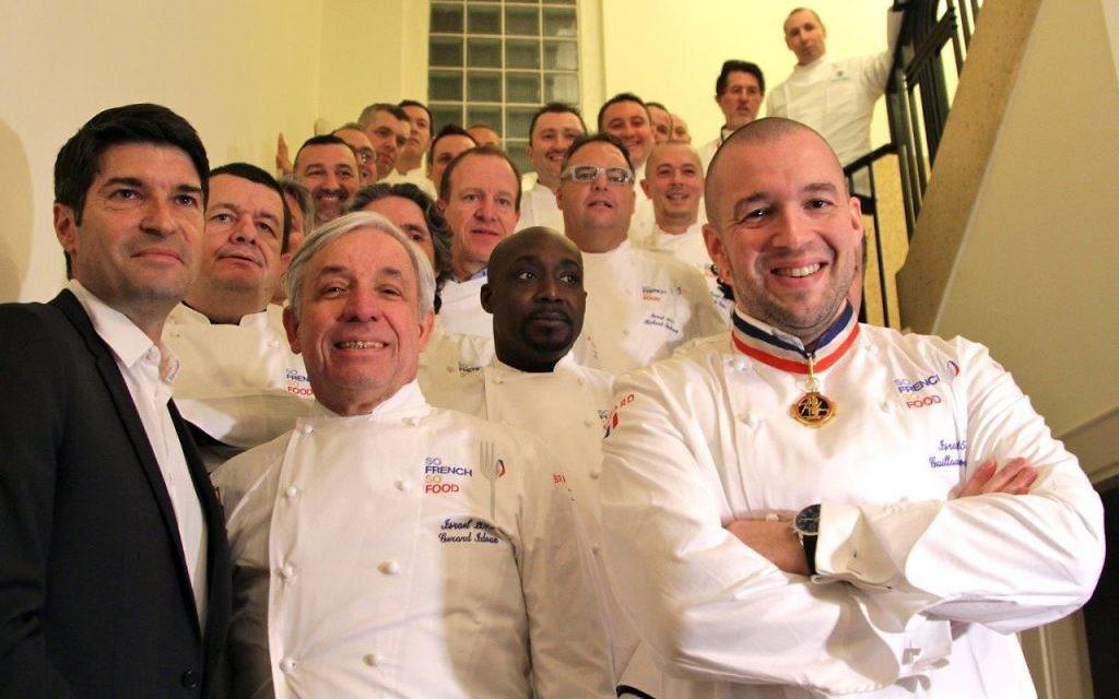 Soirée de lancement de SO FRENCH SO FOOD 2015, Semaine de la gastronomie française en Israël, qui s'est déroulée hier soir à la Maison de France en présence de S.E Patrick Maisonnave, Ambassadeur de France en Israël, des 21 chefs français invités et de nombreuses personnalités (Crédit : Marine Crouzet / Ambassade de France en Israël)