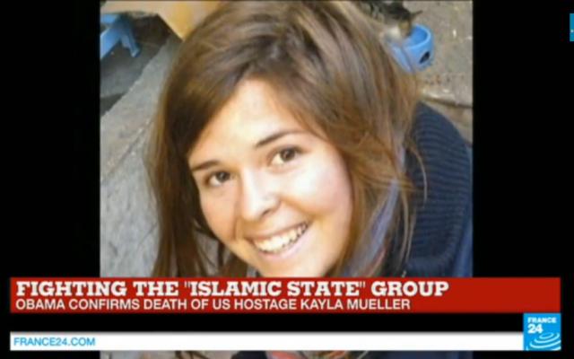 Kayla Mueller (Crédit : Capture d'écran YouTube/France24)