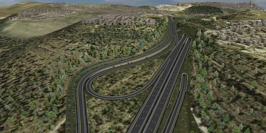 L'interprétation d'un artiste de la Route 1 (Crédit : Netivei Yisrael)