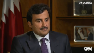Sheik Tamim Ben Hamad Al-Thani (Crédit : Capture d'écran YouTube/CNN)