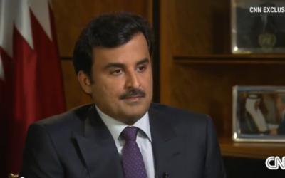 Sheik Tamim Ben Hamad Al-Thani (Crédit : Capture d'écran YouTube/CNN)