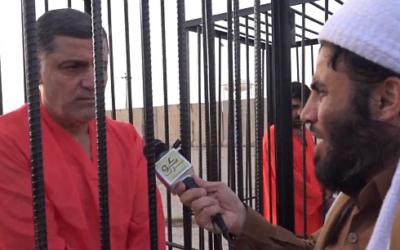 Irak: l'EI fait parader des peshmergas dans des cages (Crédit : capture d'écran YouTube)