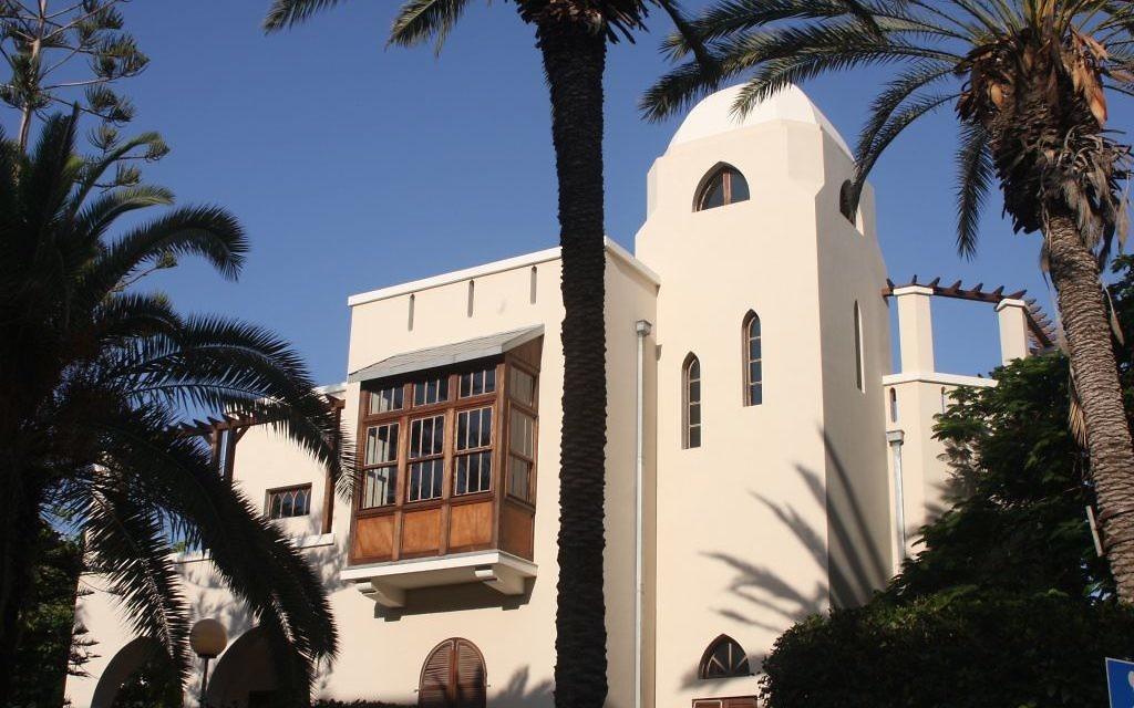 La maison de Bialik (Crédit : Shmuel Bar-Am)