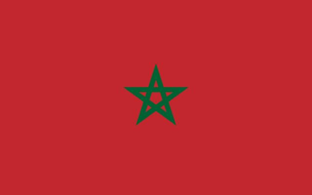 Drapeau du Maroc (Crédit : Wikimédia)