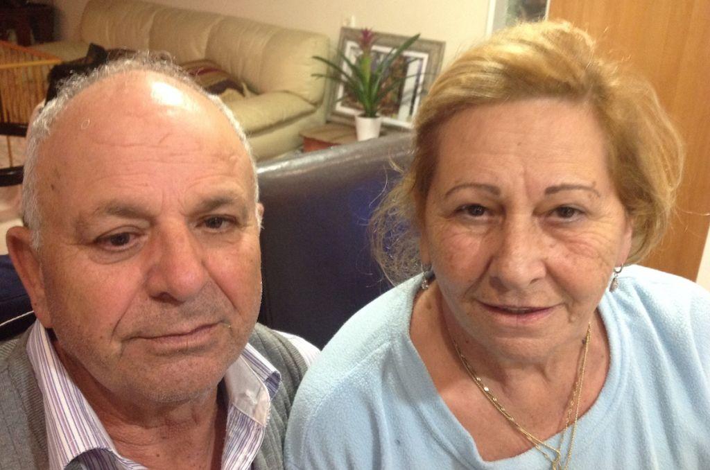 Rafael Nahum et sa femme Doris, des travaillistes loyaux (Crédit : JTA/Ben Sales)