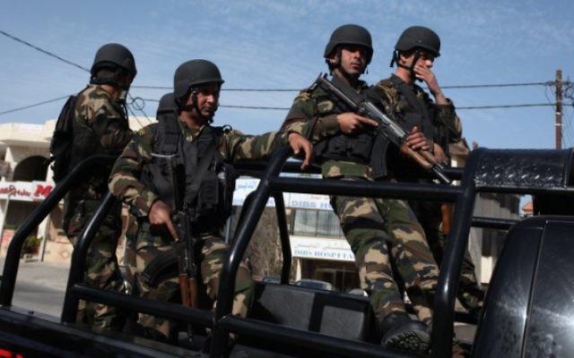 Les forces de sécurité palestiniennes (Crédit : Issam Rimawi/Flash90)