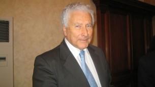 Renzo Gattegna, le président de l'Union des communautés juives d'Italie (Crédit : Autorisation Pagine Ebraiche)