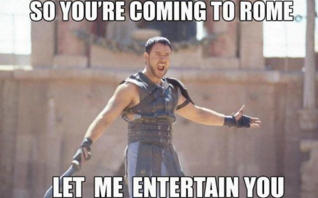 Alors comme ça vous venez à Rome, laissez-moi vous divertir (Crédit : (Twitter/@Cathy_Crawley)