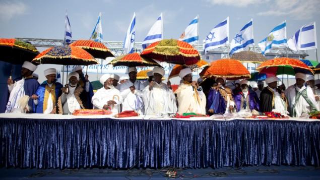 La célébration du Sigd à Jérusalem le 31 octobre 2013 (Crédit : Flash90)