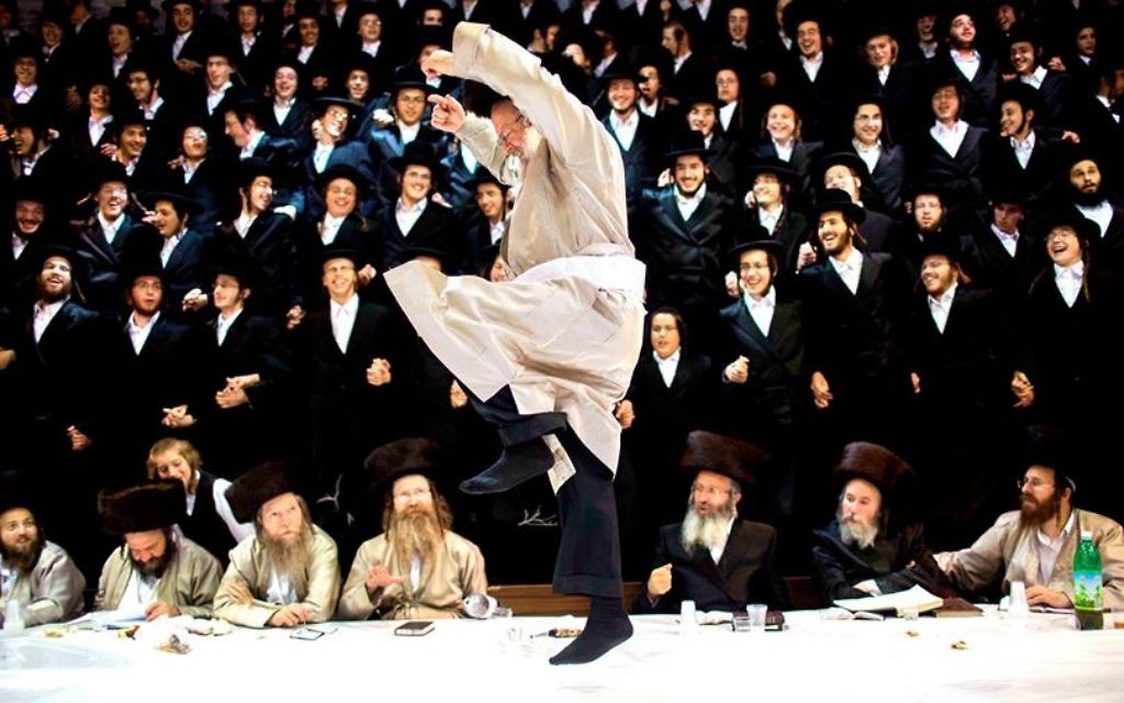 Simha Torah (Crédit : Yonatan Sindel/Flash90)