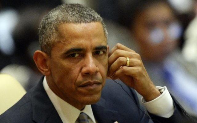 Le président américain Barack Obama, le 13 novembre 2014 (Crédit : AFP/Christophe Archambault)